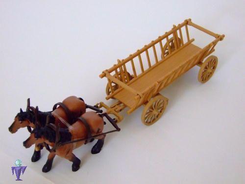 Siku  3491 Leiterwagen mit 2  Pferden  OVP