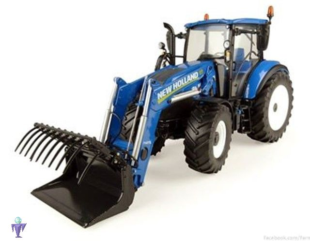 New holland t mit frontlader