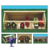 610491 Garage mit 3x2 Stellplätze in 1:87