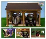 610338 Schuppen Garage für 2 Traktoren   1:16