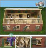 610595 Perdestall mit 7 Einzelboxen   in 1:24  für Schleich