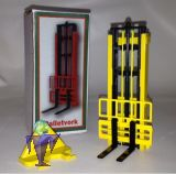 BeCo 009 Stapelhubgerüst in gelb, Gabel schwarz
