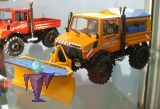 7725 Unimog 1600 orange mit Winteraufbau und Schneepflug