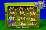 571968 Seit 12x Kühe in braun / rotbunt