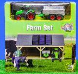 610048 Farm Set Scheune mit Traktor mit Anhänger