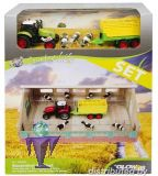 610692-2  Kuhstall + Traktor Set  + Kühe