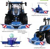 6251 Bumper Frontgewichte , Unterfahrschutz in blau mit 800 kg